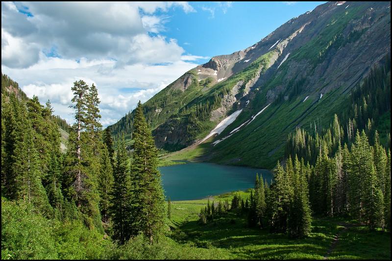 Emerald Lake just south of Schofield Pass