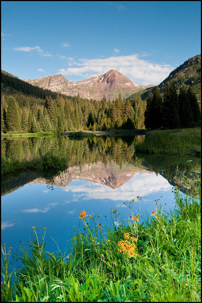 View from pond near the Slate River in Crested Butte