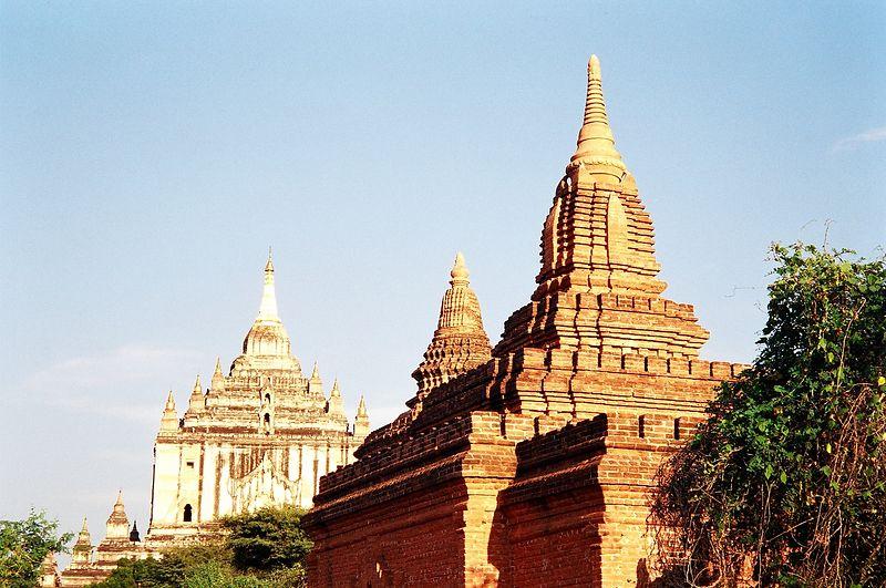 Two of the bigger temples Bagan, Burma.