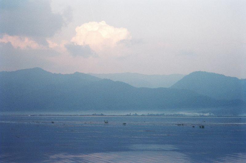 Mist rising over Inle lake, Burma.