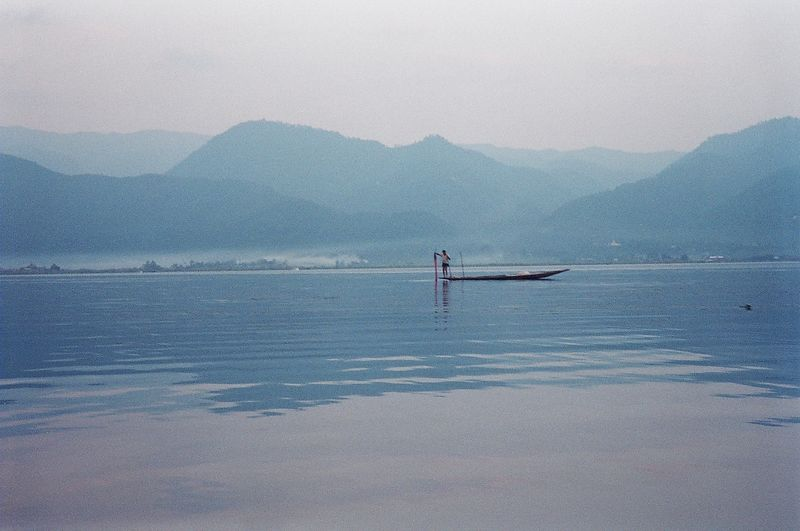 Fisherman on Inle Lake, Burma.