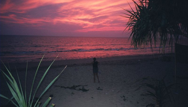 Me practising my Poi at sunset, Koh Lanta.