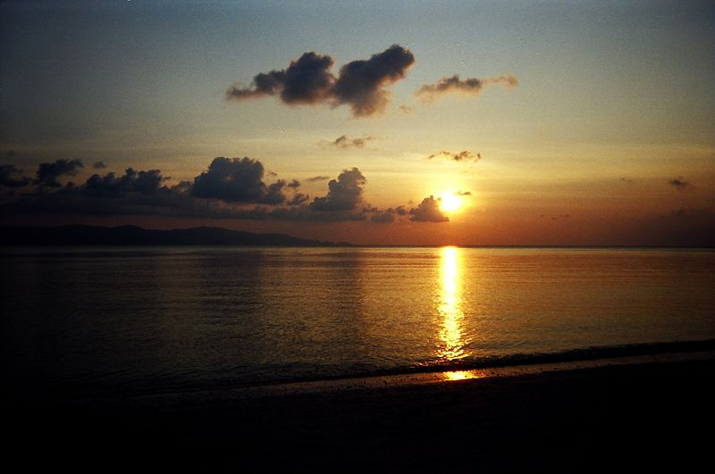 Sunset on Christmas Day, Leela Beach, Koh Phangan.