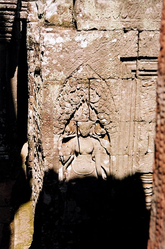 Carved relief from the Bayon, my favorite temple in Angkor.