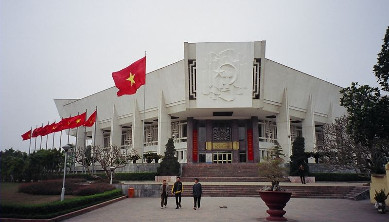 Reminder that Vietnam is still a communist country - the Ho Chi Minh museum.