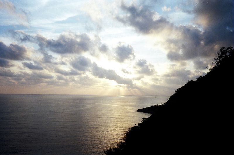 Sunrise from my balcony, top Hill, Koh Phangan.  Saw a lot of sunrises thanks to partying through to the early hours.
