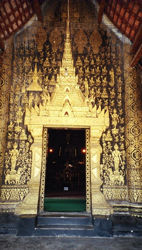 Doorway to Wat Xieng Thong, Lunag Prabang, Laos
