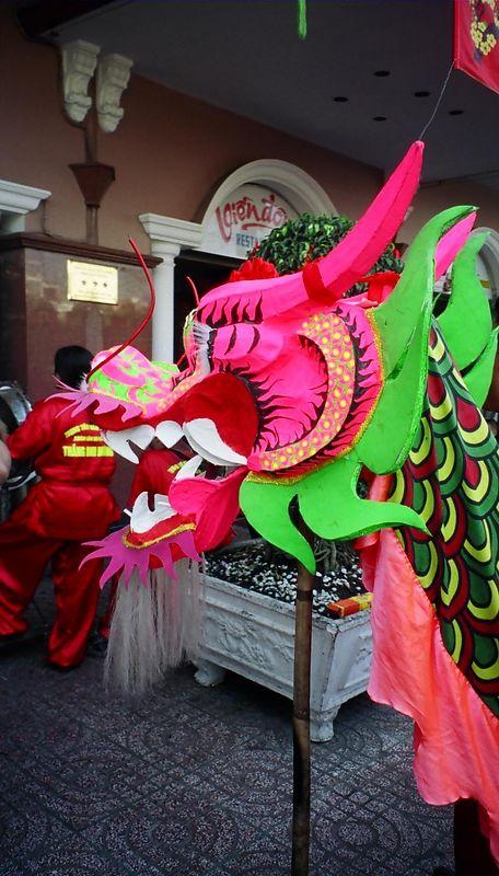 Dragon - part of a dragon dance - to celelbrate Tet, Saigon.