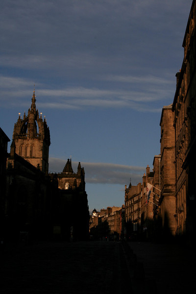 Edinburgh in the early morning light.