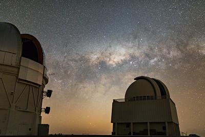 Telescope Domes Under Miklyway