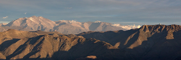 Cerro Pachon In Late Afternoon Sunlight.
