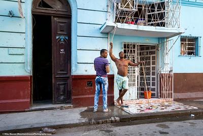Manly porch cleaner!   Havana.