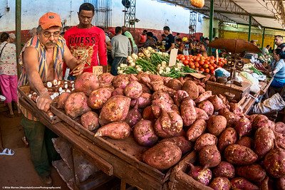 Potatoes at a local market!