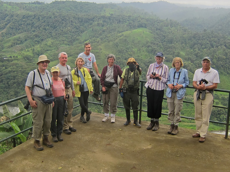 Mirador Rio Blanco, Ecuador, Gerry, Eleanor, Charles, Elizabeth, John, Janice,Edwin (in disguise), Jane,Patsy, Bill