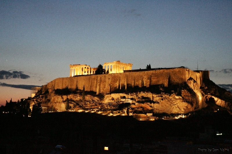 Parthenon By Night