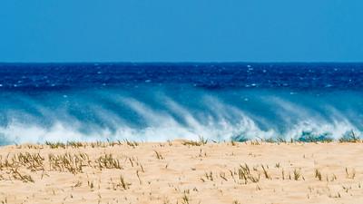 Surf and spray at Papohaku Beach, Moloka'i