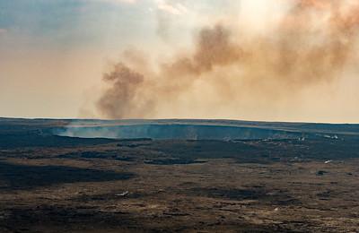The caldera at Kilauea