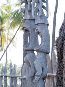 Tiki statues, I think representing one of the Hawaiian gods