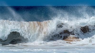 Surf at  Papohaku Beach, Moloka'i
