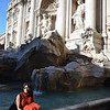 The Trevi Fountain, which we visited at least 3 times!