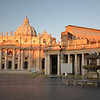 St Peters Basilica and other Vatican buildings early morning.