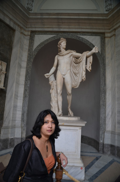 At the Vatican museums. Statue of Apollo.