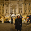 At the Trevi fountain - best to visit is after 10pm