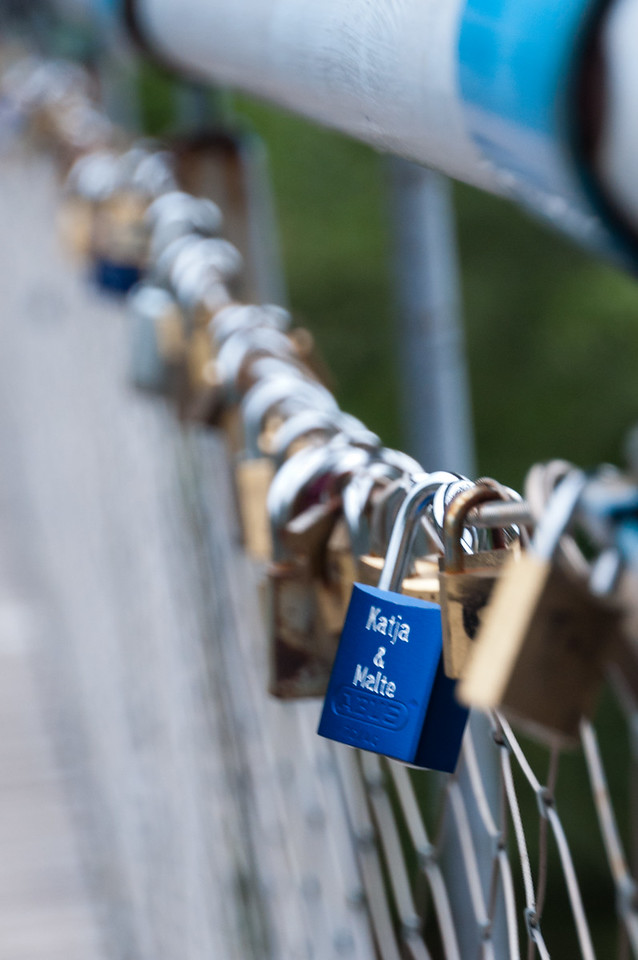 Lover's Locks in Cannobio, Lake Maggiore