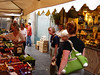 Shopping in the Rapallo open market