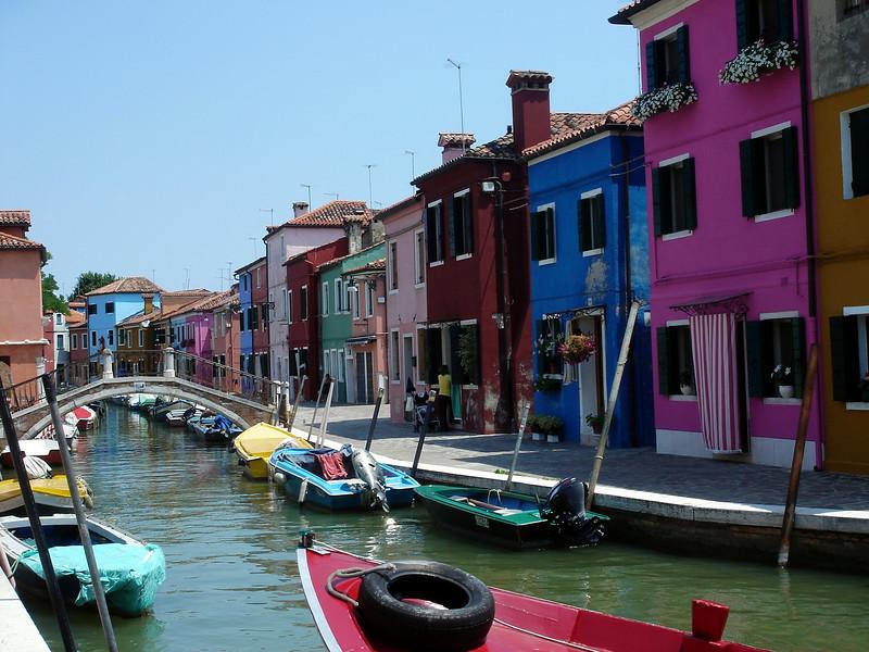 Burano canal scene