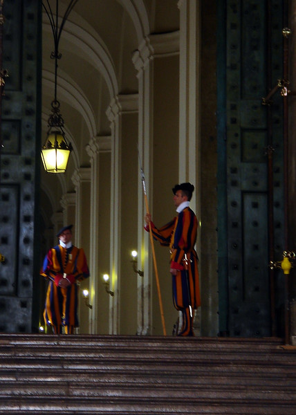 Swiss Guard at North entrance to Vatican