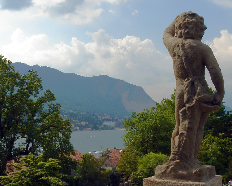View from garden at estate on Isola Bella on Lake Maggiore