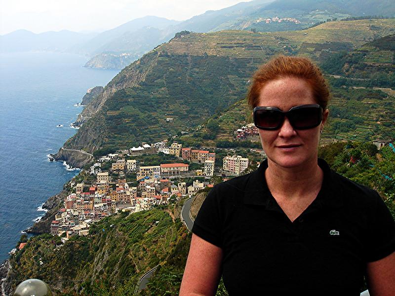 Sloane overlooking Manorola