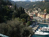 Portofino harbor from road to church