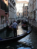 Gondola traffic jam in Venice