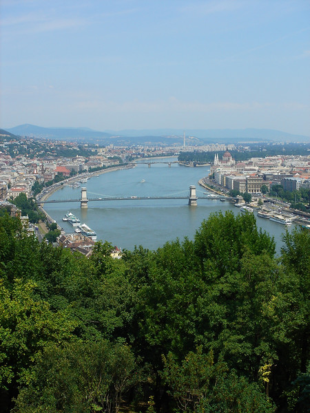 The Danube and the Chain Bridge from the <br /> Citadel