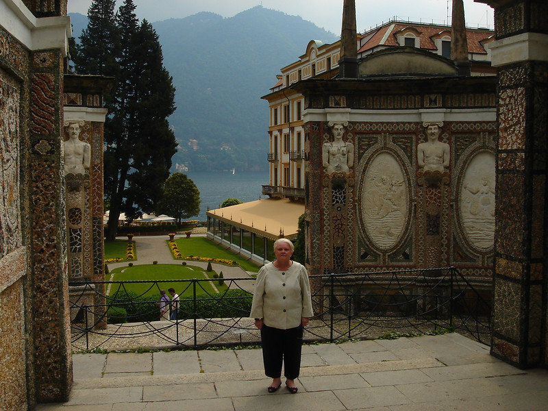 Rosie at Villa D'Este in Cernobbio, Italy on Lake Como