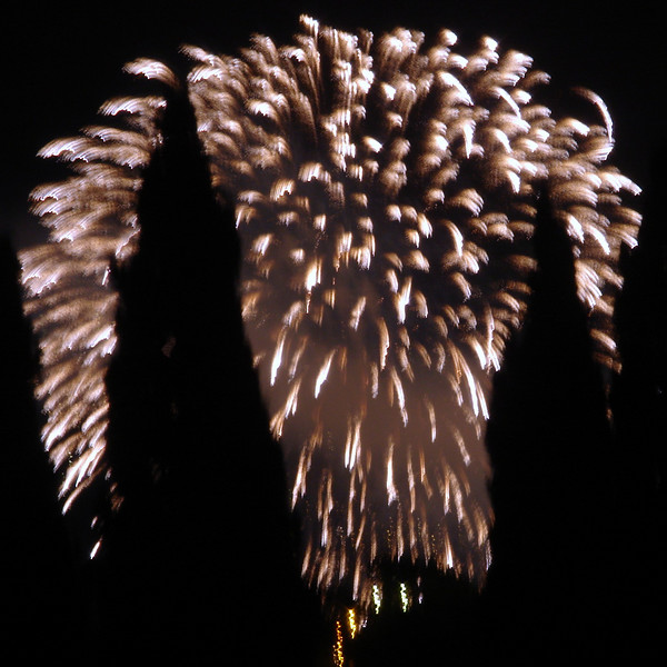 Fireworks from Nostra Signora di Montallegro celebration  (Our Lady of Montallegro) (450 years) in Rapallo
