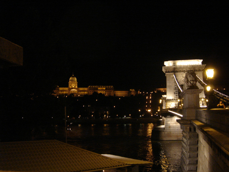 Chain Bridge and the Castle in Budapest