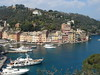 Portofino Harbor fro road to Castello Brown