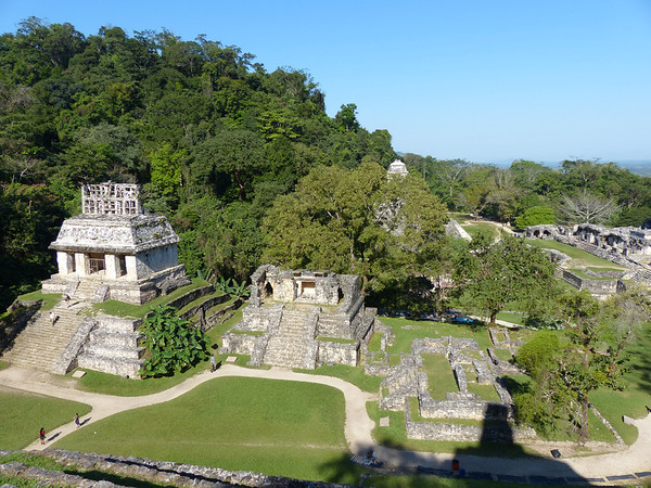 Temple of the Sun & Temple XIV<br /> Palenque, Chiapas, Mexico