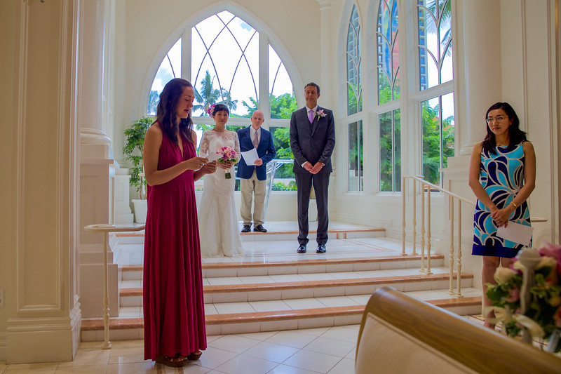 Mark and Bei's wedding at the AKALĀ Chapel ,Waikiki, Honolulu, HI