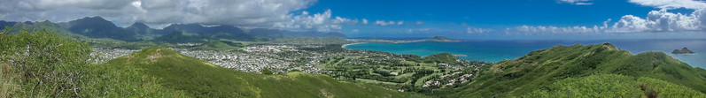Views from the Lanikai Pillbox hike along the Kaiwa Ridge Trail, Kailua, HI.