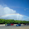 A lovely rainbow to finish our tour, Honolulu, HI
