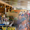 Grabbing a snack at the Kahuku Land Farms Stand, Kahuku, HI