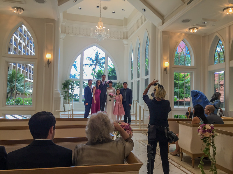 Mark and Bei Wedding, Akala Chapel,  Hilton Village  Waikiki, Honolulu, HI.
