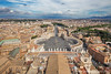 View From St. Peter's Basilica Dome - St. Peter's Square