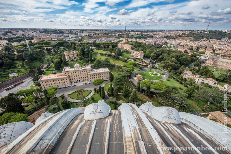 View From St. Peter's Basilica Dome - Vatican City State