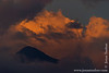 Mount Muhabura and Sunset Clouds