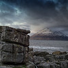 Elgol beach - with Cuillin mountains in the background.. Feb 2012